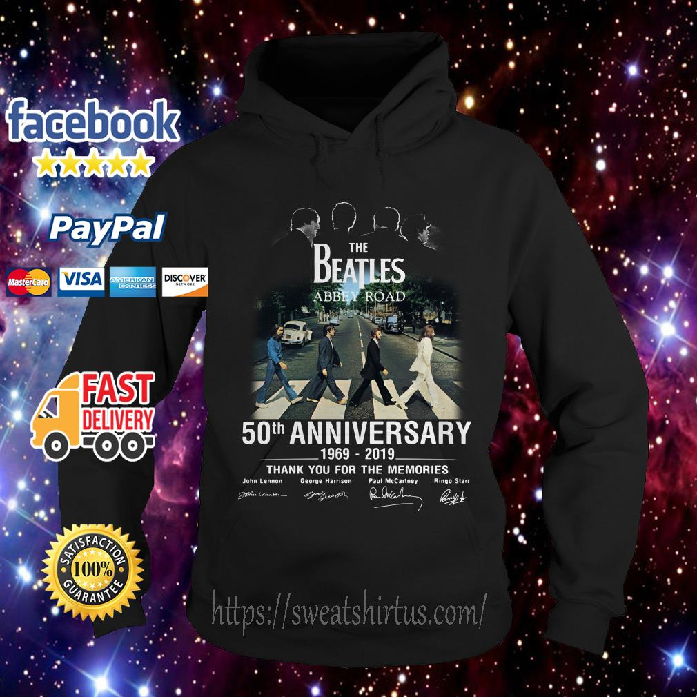 The Beatles album Abbey Road 50th Anniversary 1969-2019 signatures Hoodie