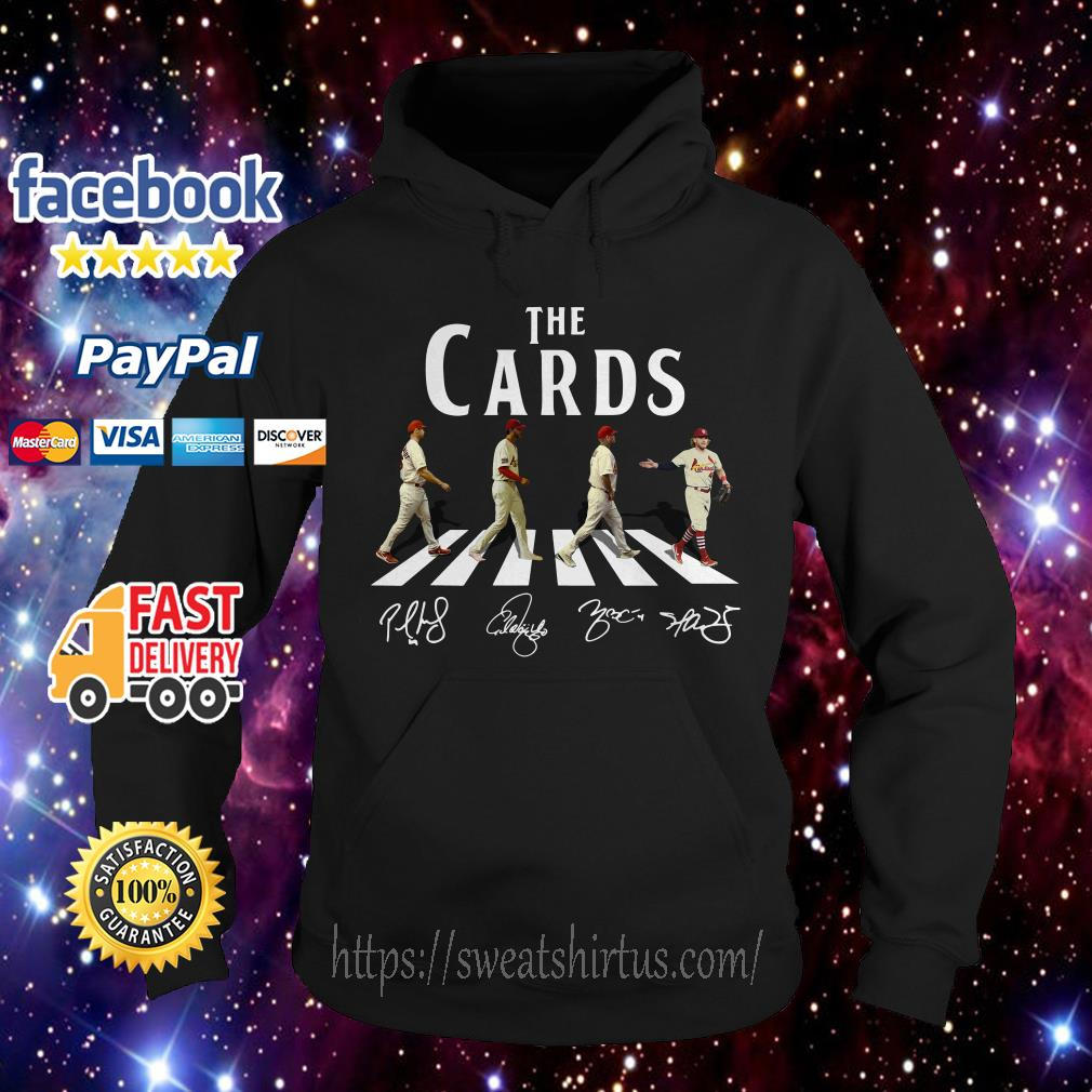 The cards St Louis Cardinals signatures Abbey road crosswalk Hoodie