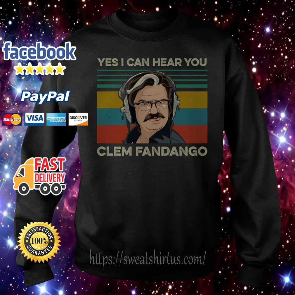 Toast Of London Yes I can hear you Clem Fandango vintage sweater