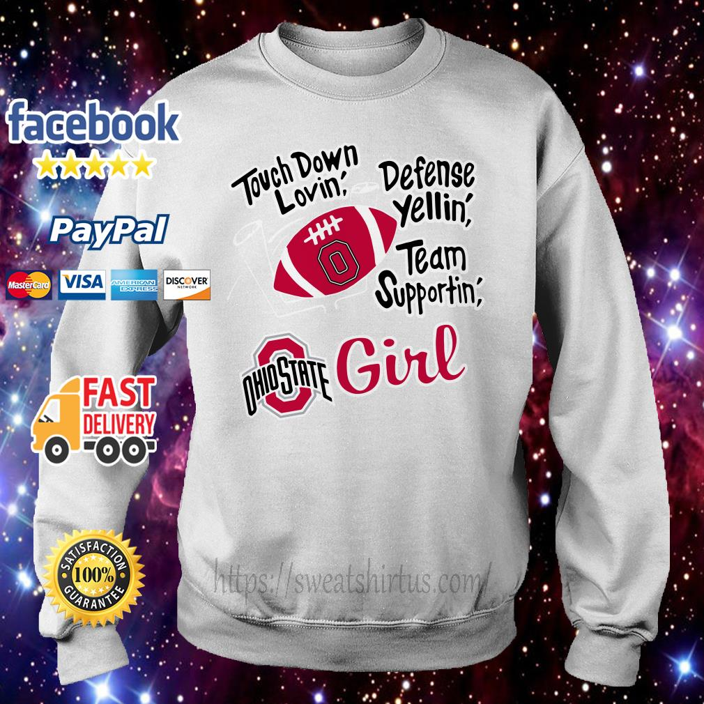 Touch down lovin' defense yellin' team supportin' Ohio State girl sweater