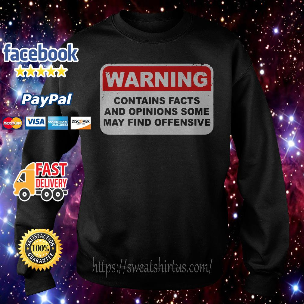 Warning contains facts and opinions some may find offensive Sweater