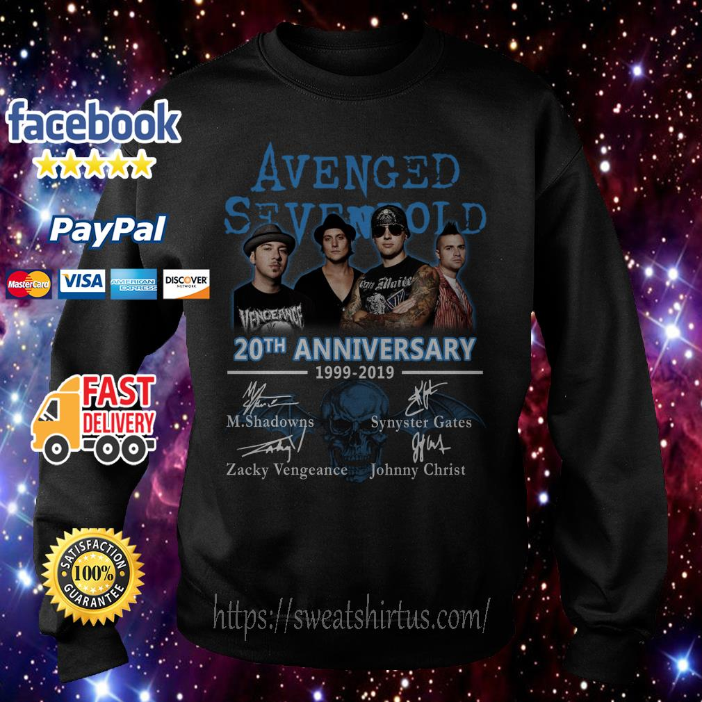 Avenged Sevenfold 20th Anniversary 1999-2019 signatures Sweater