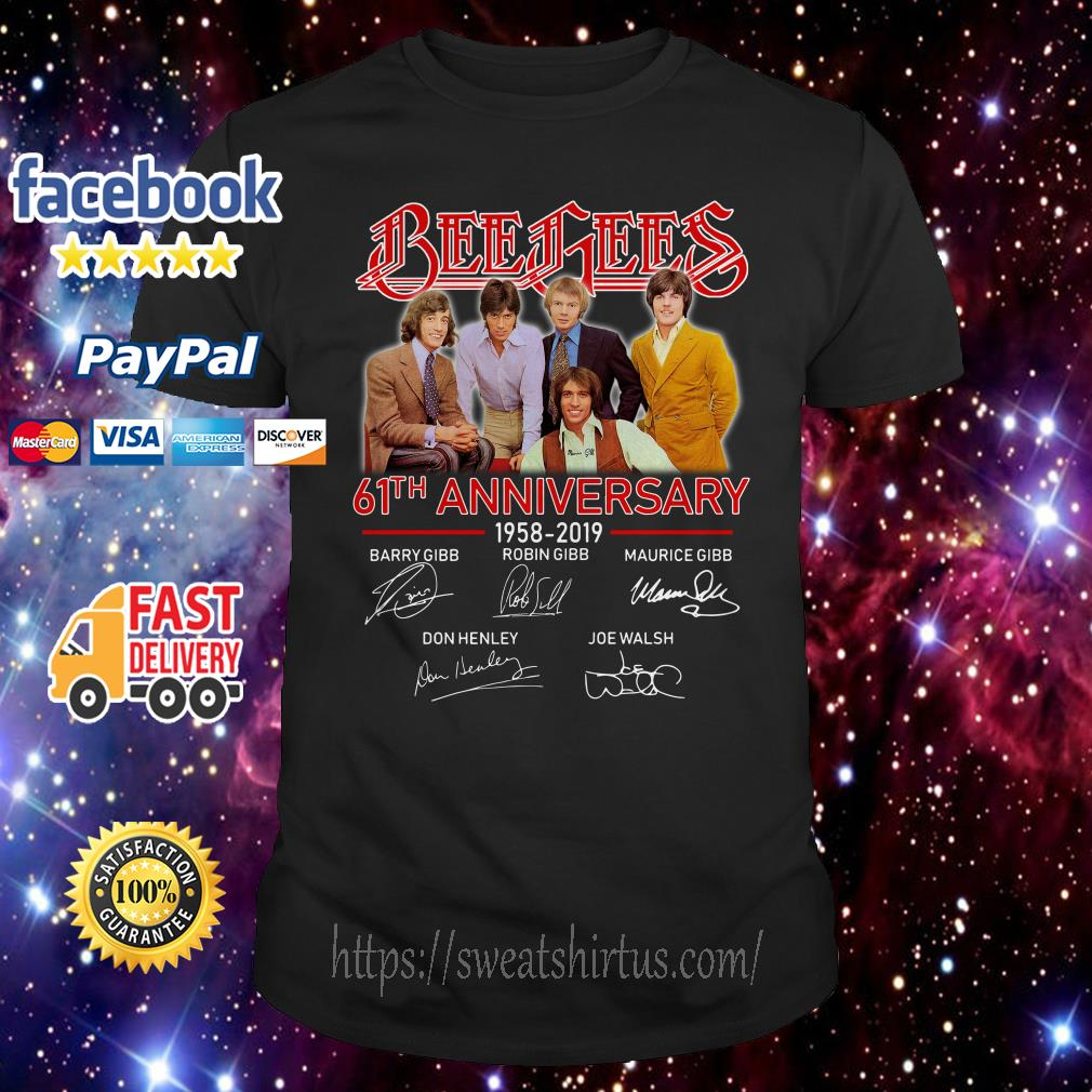 Bee Gees 61th Anniversary 1958-2019 signatures shirt