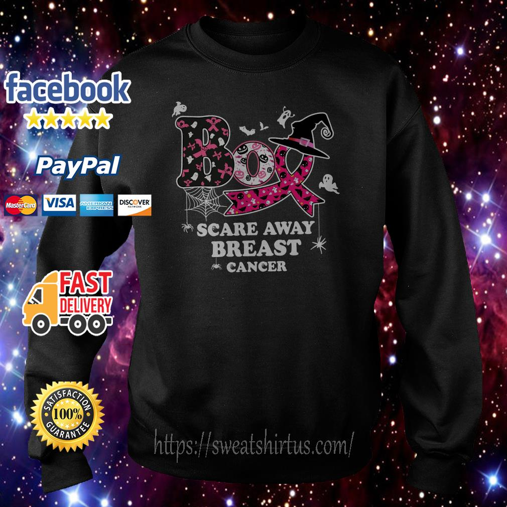 Boo scare away breast cancer Halloween Sweater
