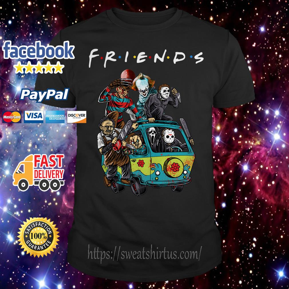 Car Horror characters movie Friends TV Show shirt