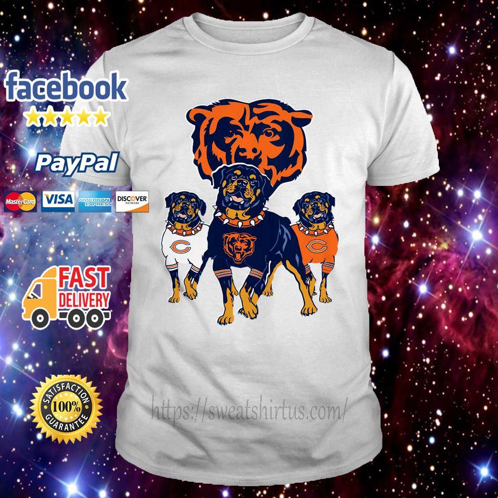premium selection 7ee21 e8bcf Chicago Bears Rottweiler dog shirt, sweater, hoodie, and v ...