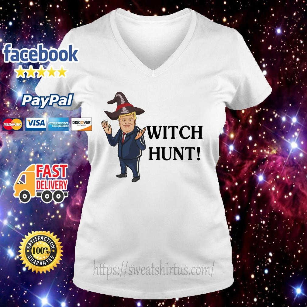 Donald Trump witch hunt V-neck T-shirt