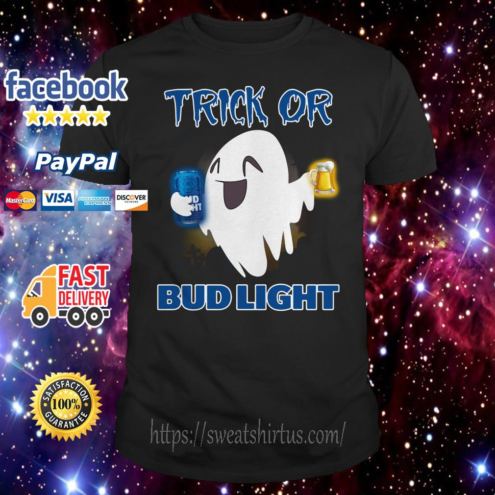 Ghost trick of Bud Light Halloween shirt