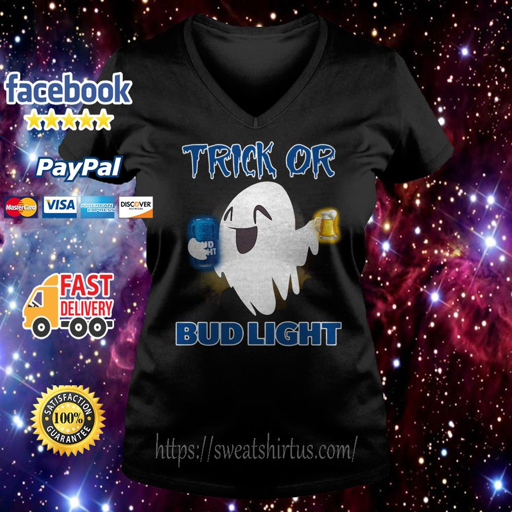 Ghost trick of Bud Light Halloween V-neck T-shirt
