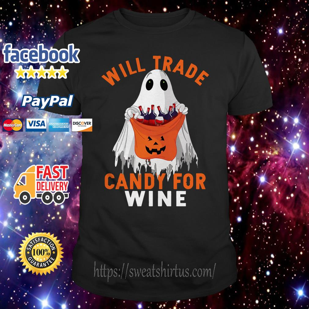 Ghost will trade candy for wine shirt