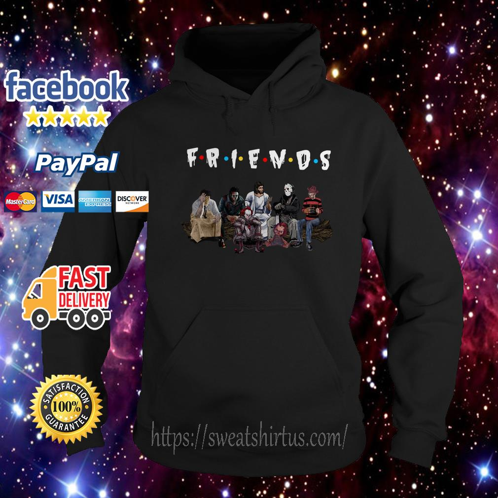 Halloween Friends TV Show horror movie characters and Jesus Hoodie