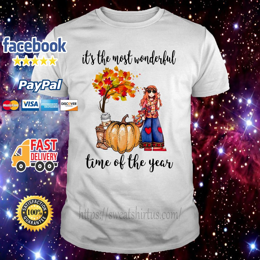 Hippie girl it's the most wonderful time of year shirt