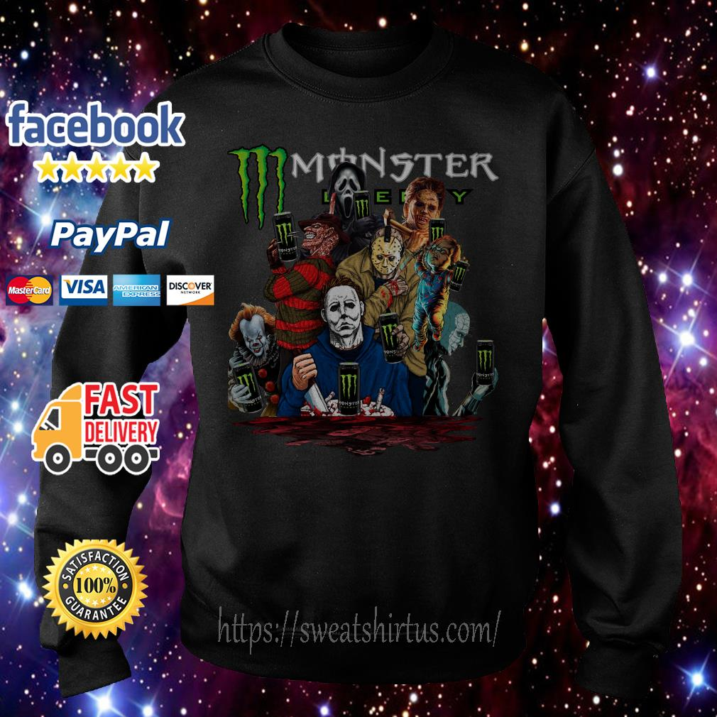 Horror characters movies Monster Energy Sweater