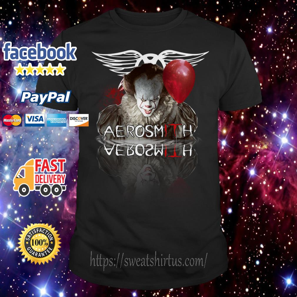 IT Pennywise Aerosmith water mirror reflection shirt