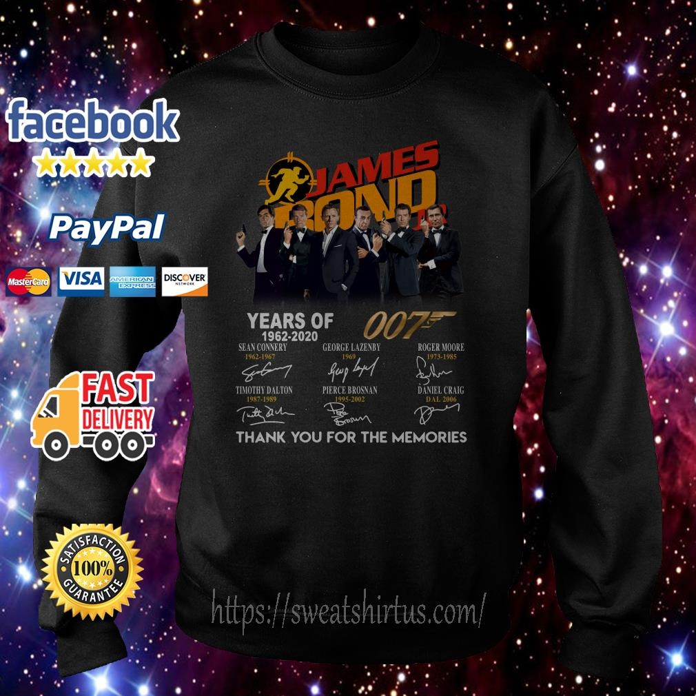 James Bond years of 007 1962-2020 signatures Sweater