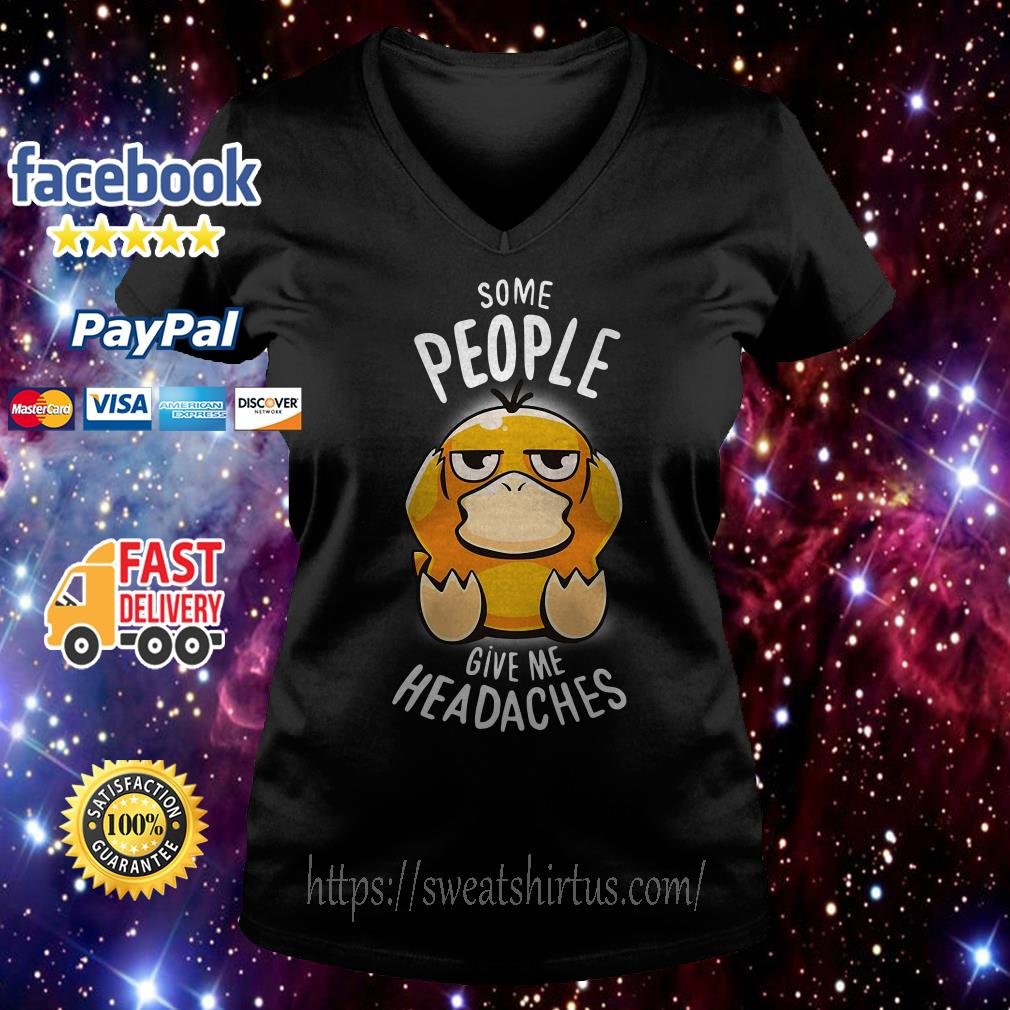 Koduck some people give me headaches V-neck T-shirt