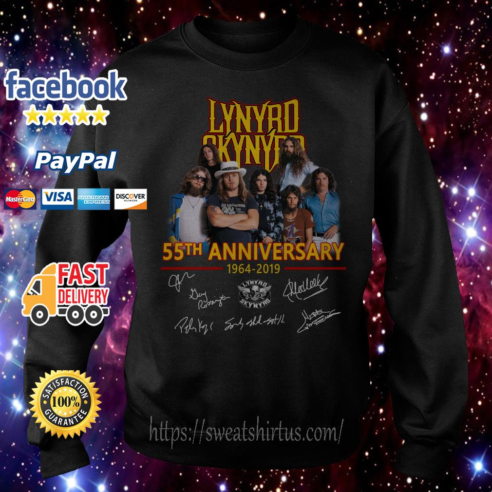 Lynyrd Skynyrd 55th anniversary 1964-2019 signatures Sweater