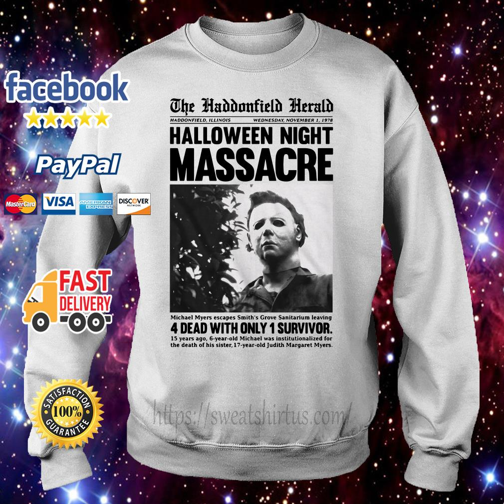Michael Myers in the Haddonfield Herald newspaper Sweater