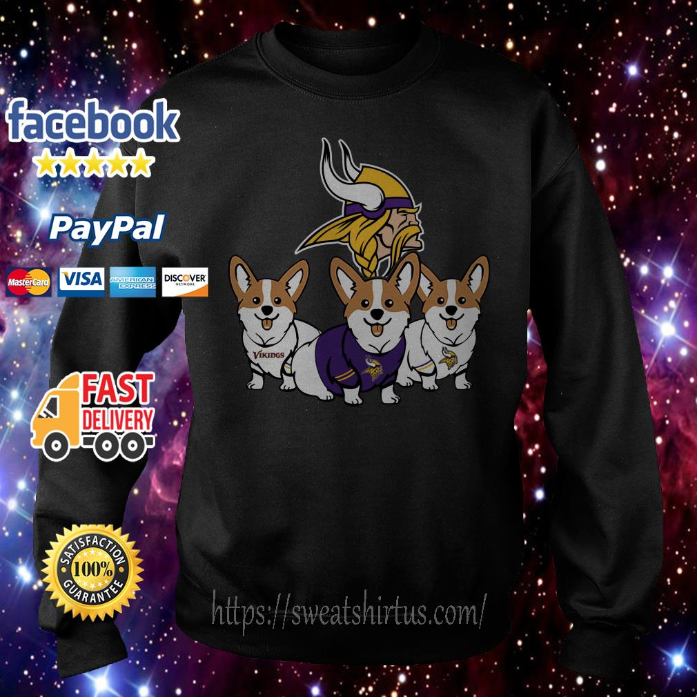 Pembroke Welsh Corgi Minnesota Vikings Sweater