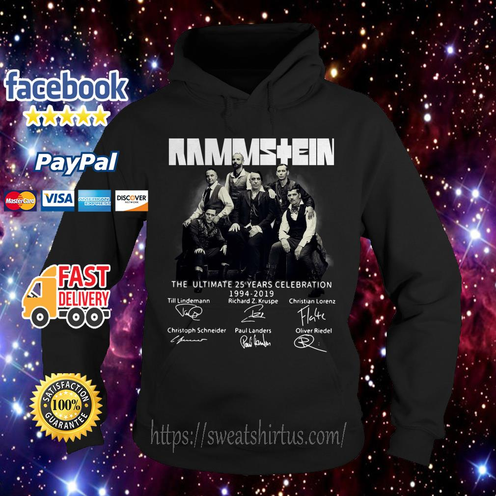 Rammstein the ultimate 25 years celebration 1994-2019 signatures Hoodie