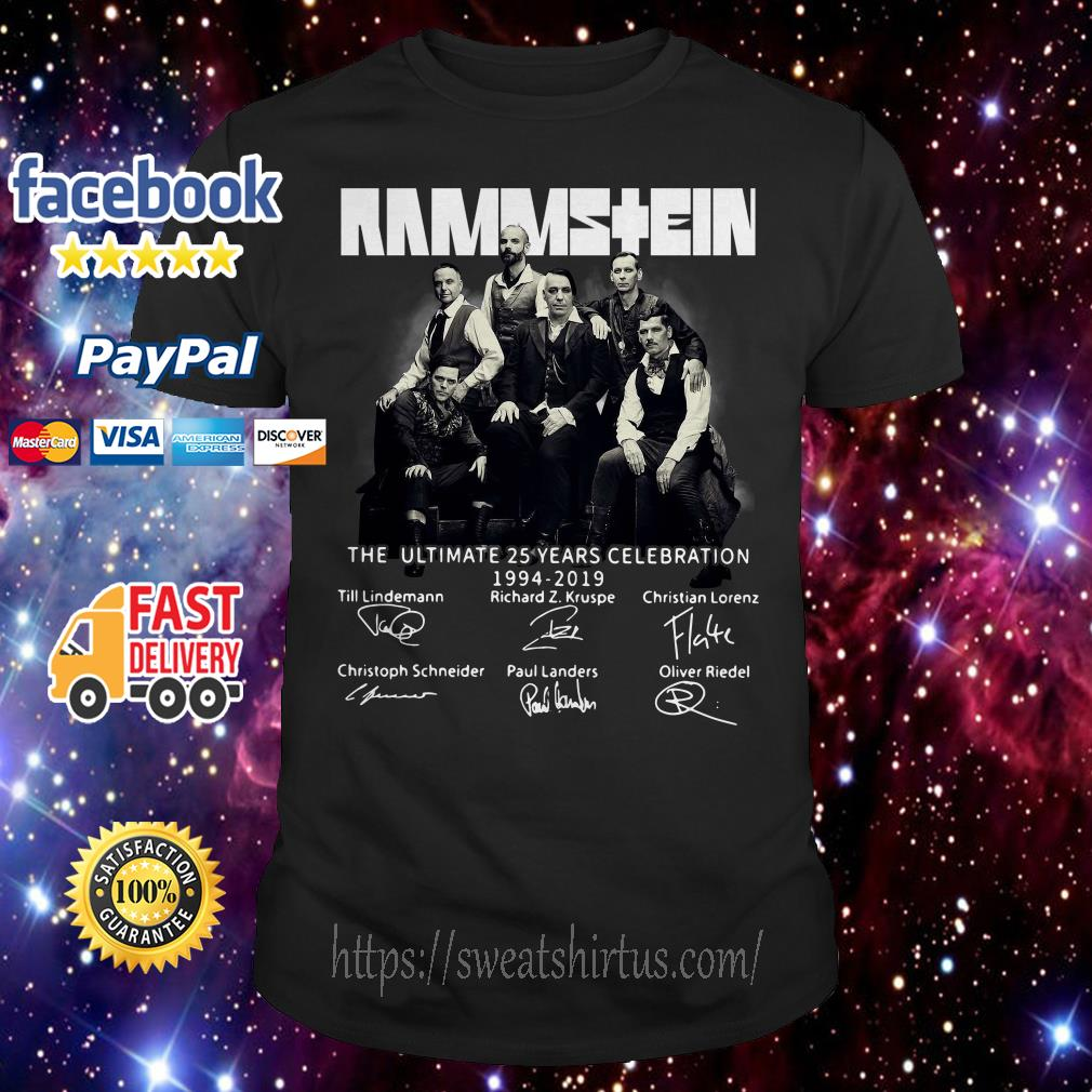 Rammstein the ultimate 25 years celebration 1994-2019 signatures shirt