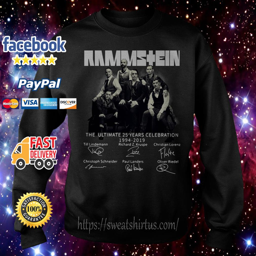 Rammstein the ultimate 25 years celebration 1994-2019 signatures Sweater