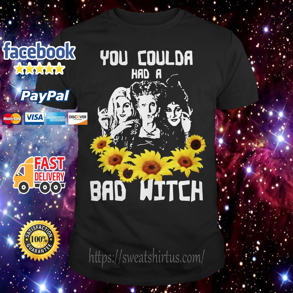 Sunflower Hocus Pocus you coulda had a bad witch shirt