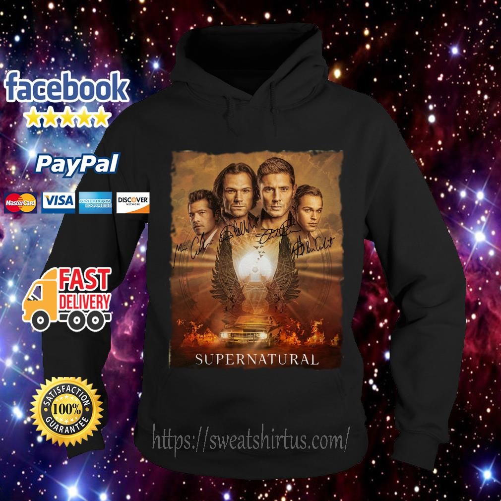 Supernatural The Winchesters final season characters signatures Hoodie