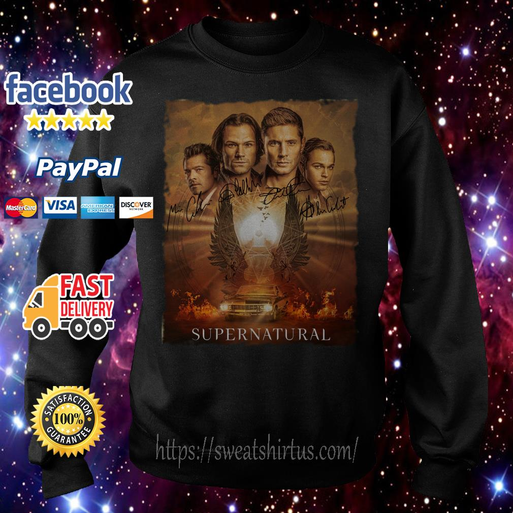 Supernatural The Winchesters final season characters signatures Sweater