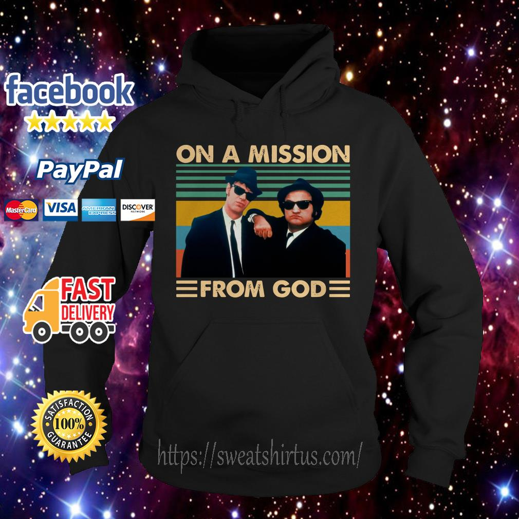 The Blues Brothers On a mission from god vintage Hoodie