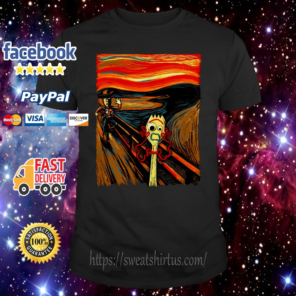 Toy story Forky the scream shirt