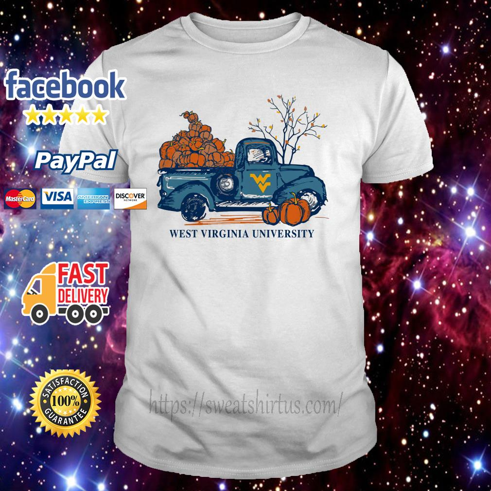 West Virginia Mountaineers WVU Harvest Pumpkin Truck shirt
