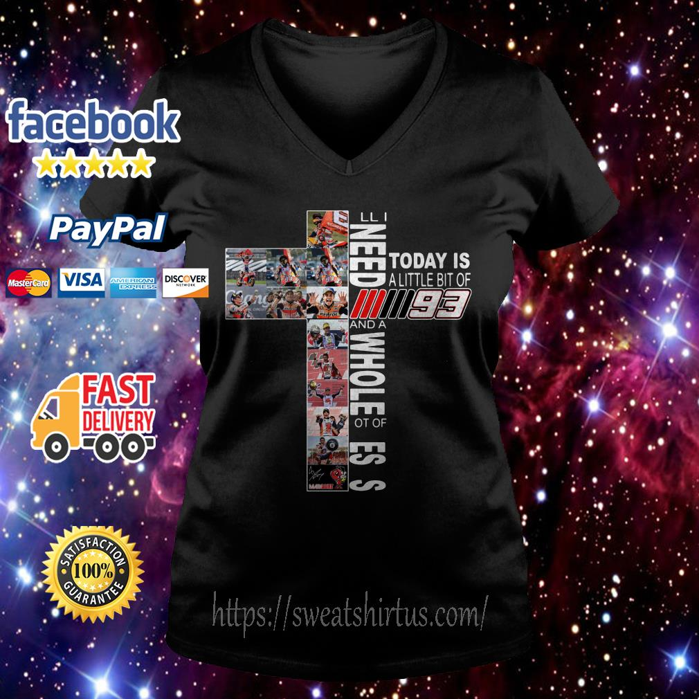 All I need today is a little bit of Marc Marquez MM93 and a whole lot of Jesus V-neck T-shirt