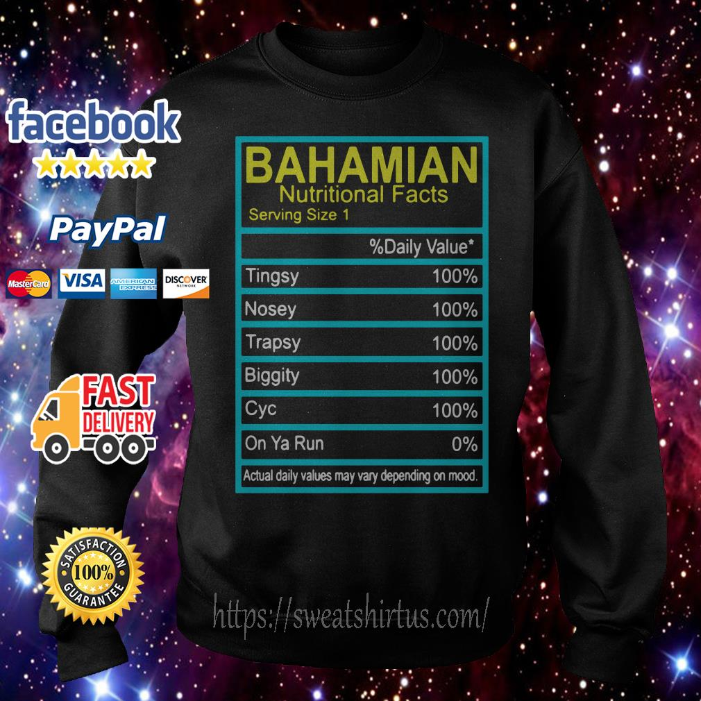 Bahamian Nutritional facts Sweater