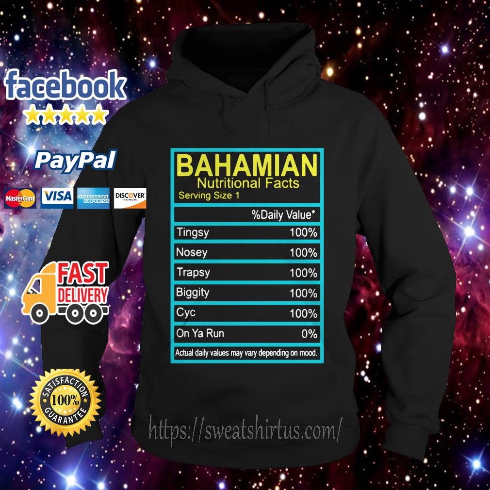 Bahamian Nutritional facts Hoodie