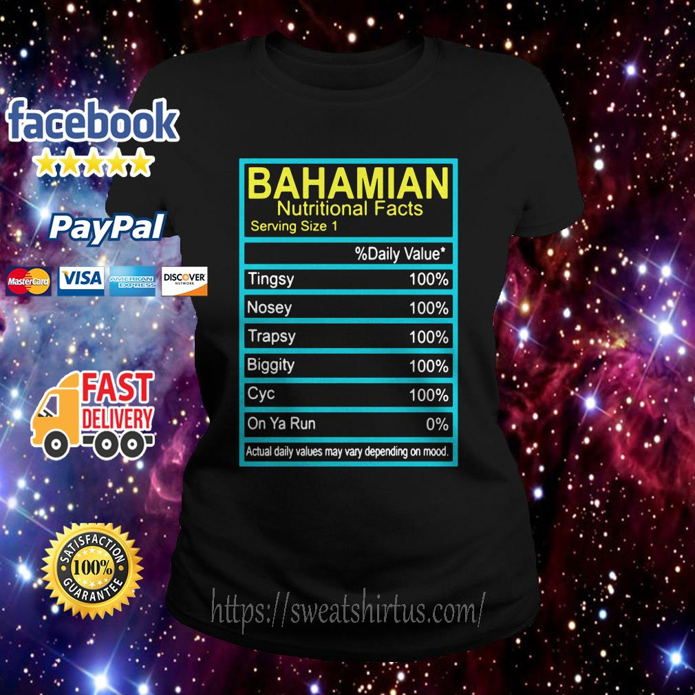 Bahamian Nutritional facts Ladies Tee