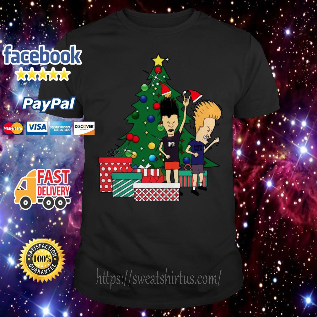Beavis And Butthead Around The Christmas Tree ugly sweat shirt