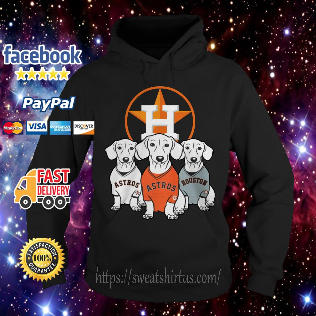 Dachshund and Houston Astros team Hoodie