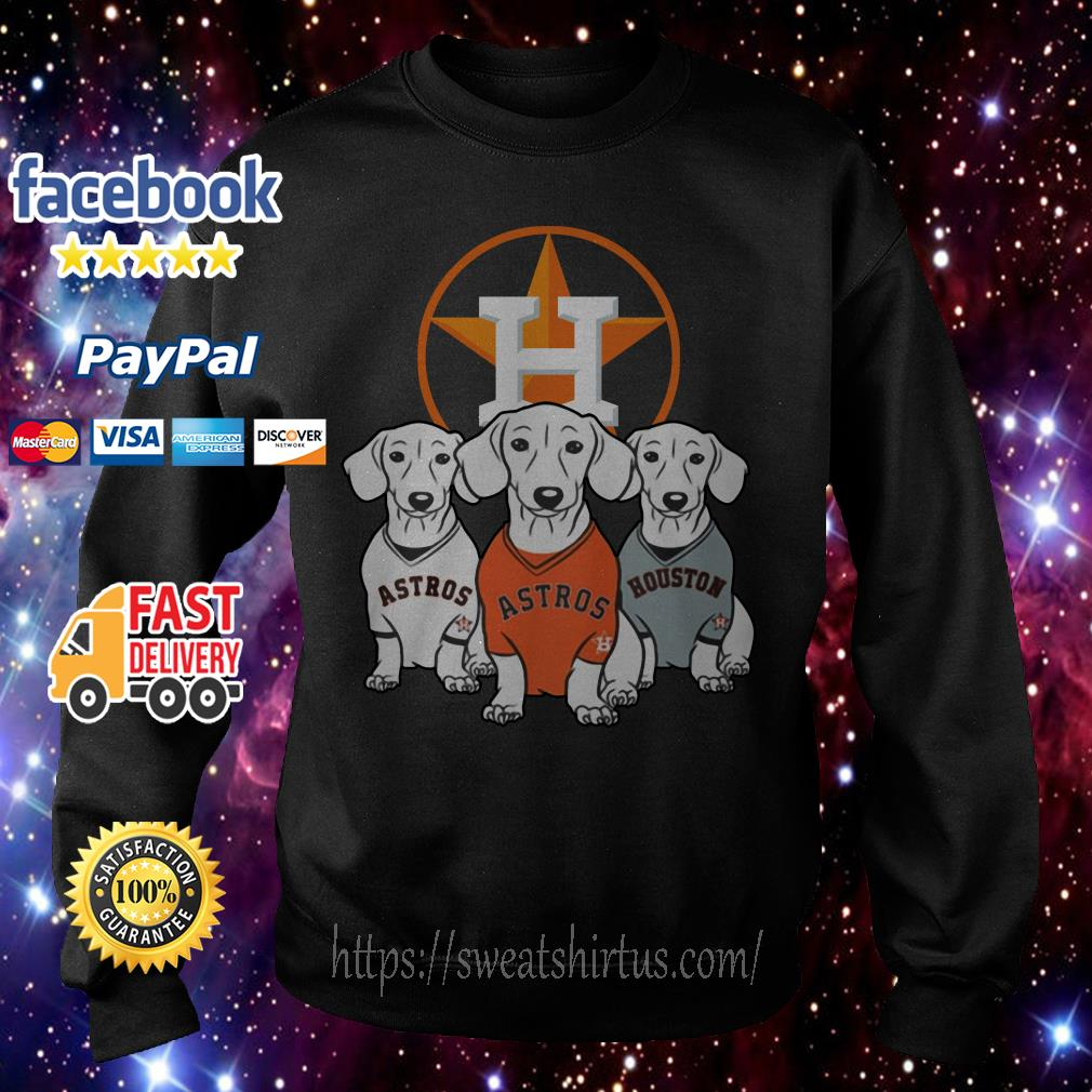 Dachshund and Houston Astros team Sweater