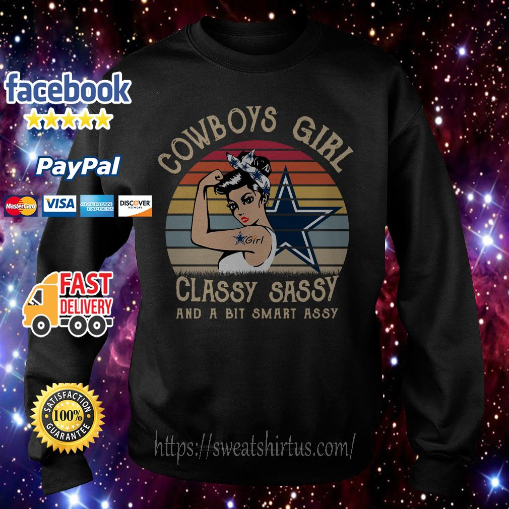 Dallas Cowboys Girl Classy Sassy and a bit Smart Assy vintage Sweater
