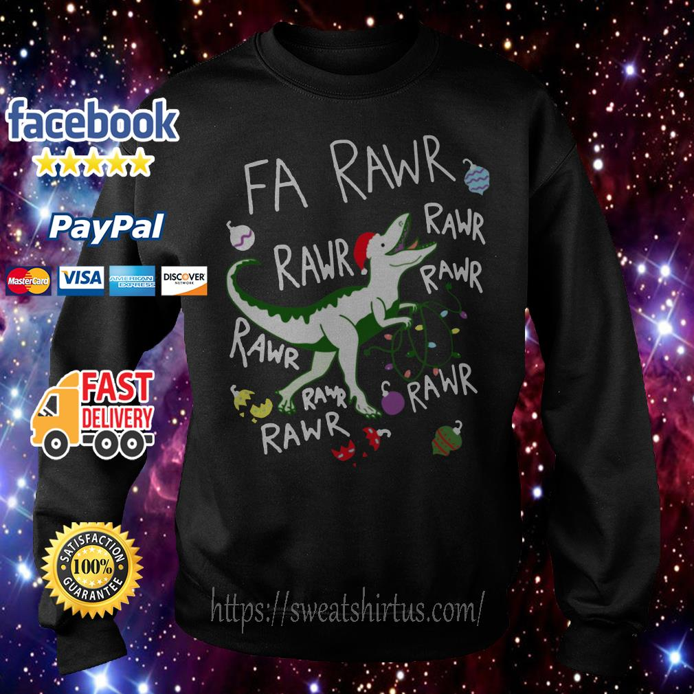 Dinosaur Rawr Rawr Rawr Christmas ugly sweat shirt