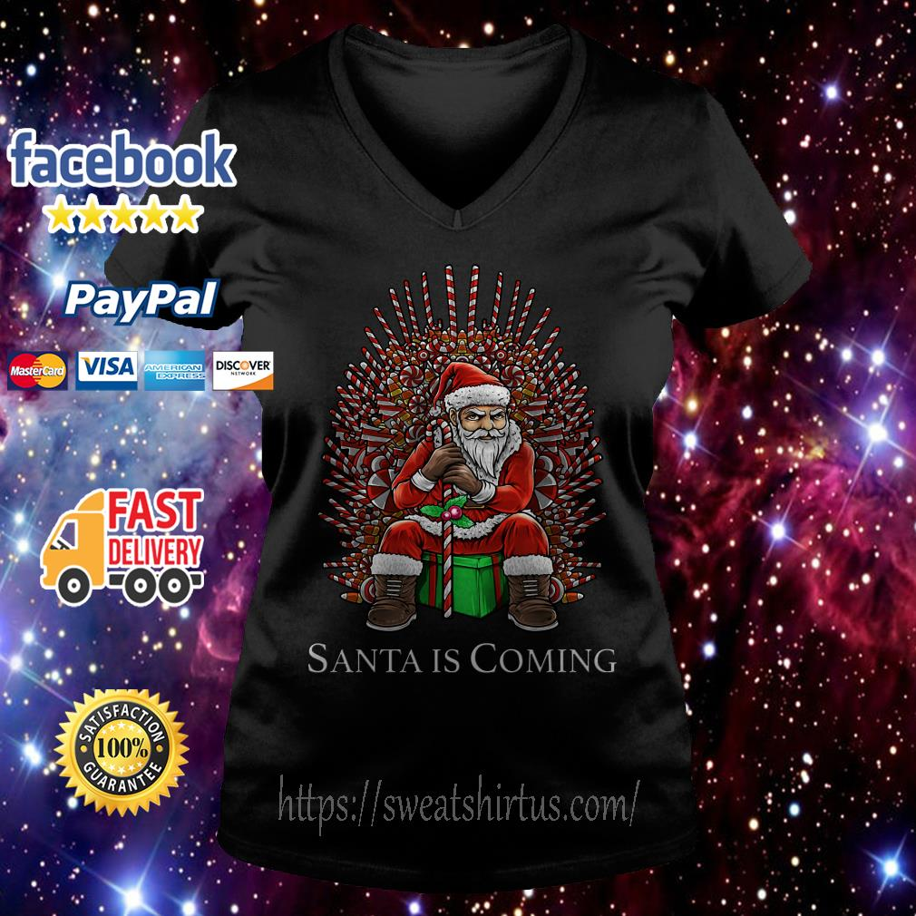 Game of Thrones Santa is coming Christmas V-neck T-shirt