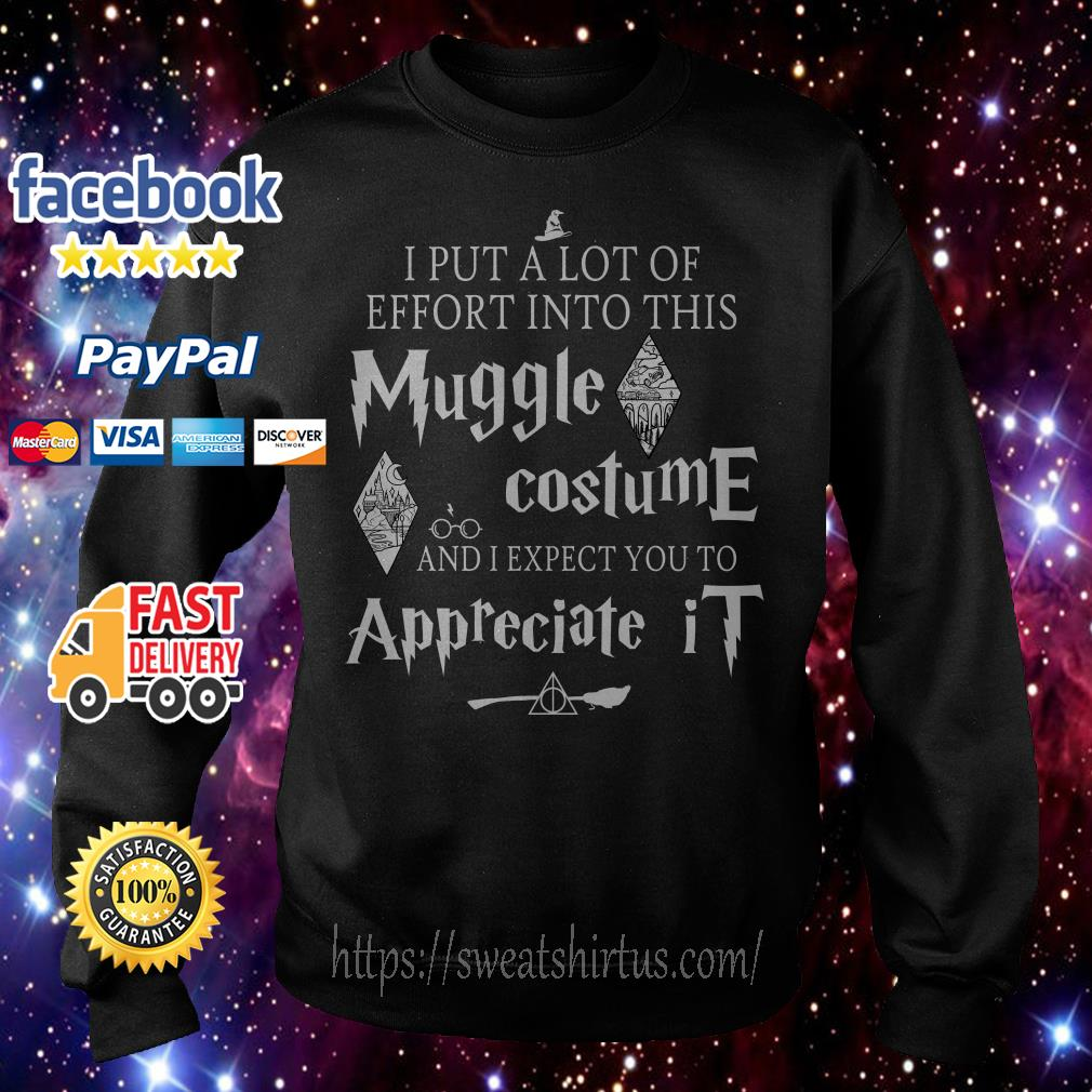 I put a lot of Effort into this Muggle costume and I expect you to Appreciate Harry Potter Sweater