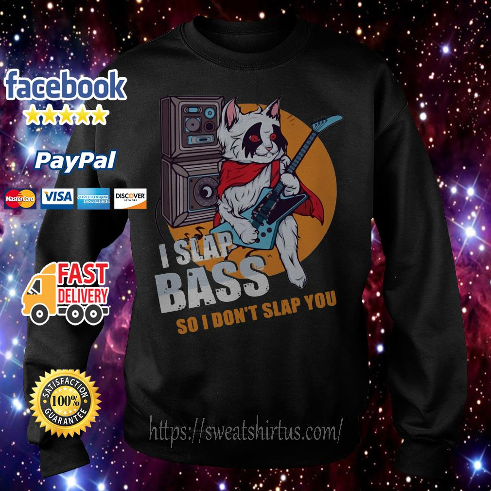 I Slap Bass Guitar Music Bands Electric Bassist Guitarists Musicians Sweater