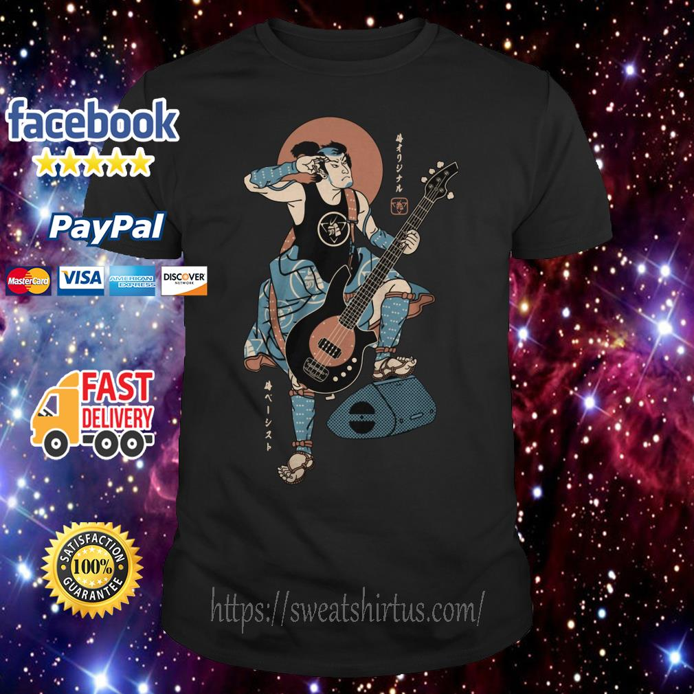 Samurai playing guitar shirt