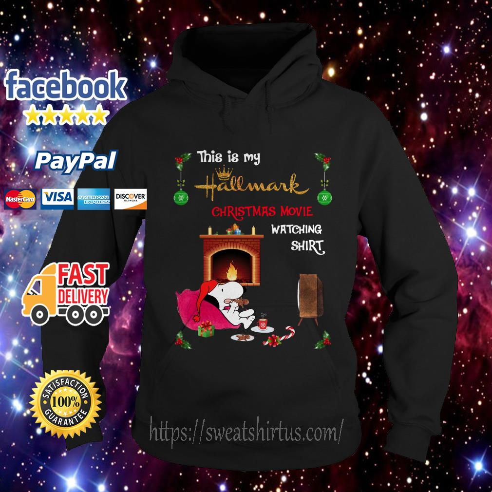 Snoopy this is my hallmark Christmas movie watching Hoodie