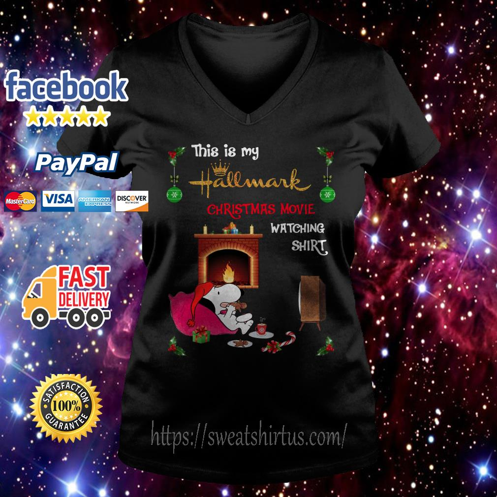 Snoopy this is my hallmark Christmas movie watching V-neck T-shirt