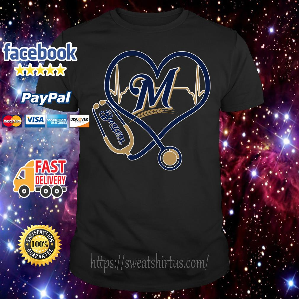 Stethoscope Milwaukee Brewers shirt