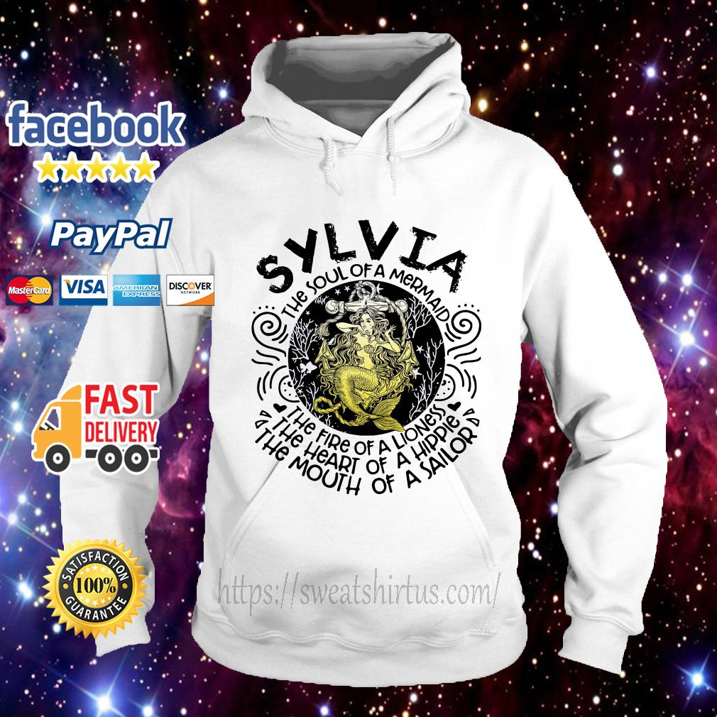 Sylvia girl the soul of a mermaid the fire of a lioness Hoodie