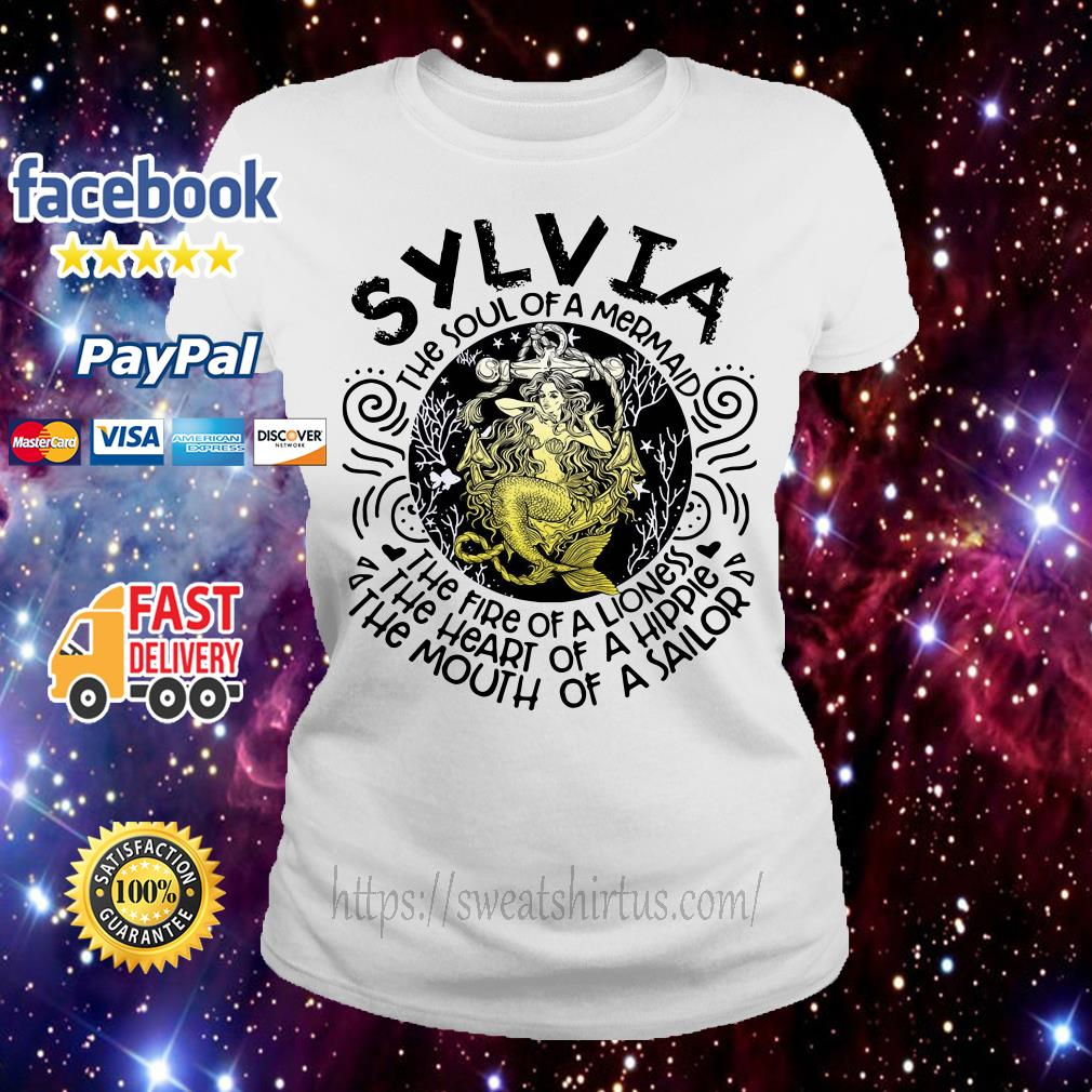 Sylvia girl the soul of a mermaid the fire of a lioness Ladies Tee